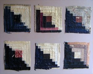 tattered log cabin blocks